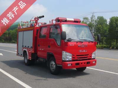 国六庆铃1吨小型泡沫消防车