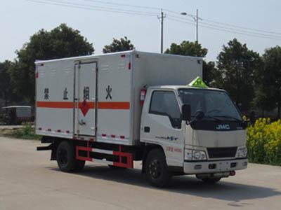 伟德手机客户端app江铃1.4吨易燃液体厢式运输车