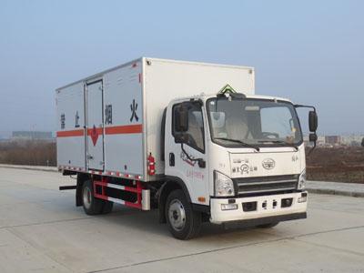 国六解放7吨易燃气体厢式运输车