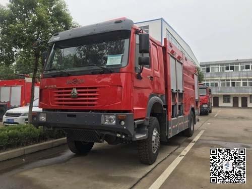 重汽四驱6吨水罐消防车