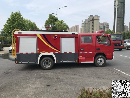 东风小多利卡外露罐2吨水罐消防车